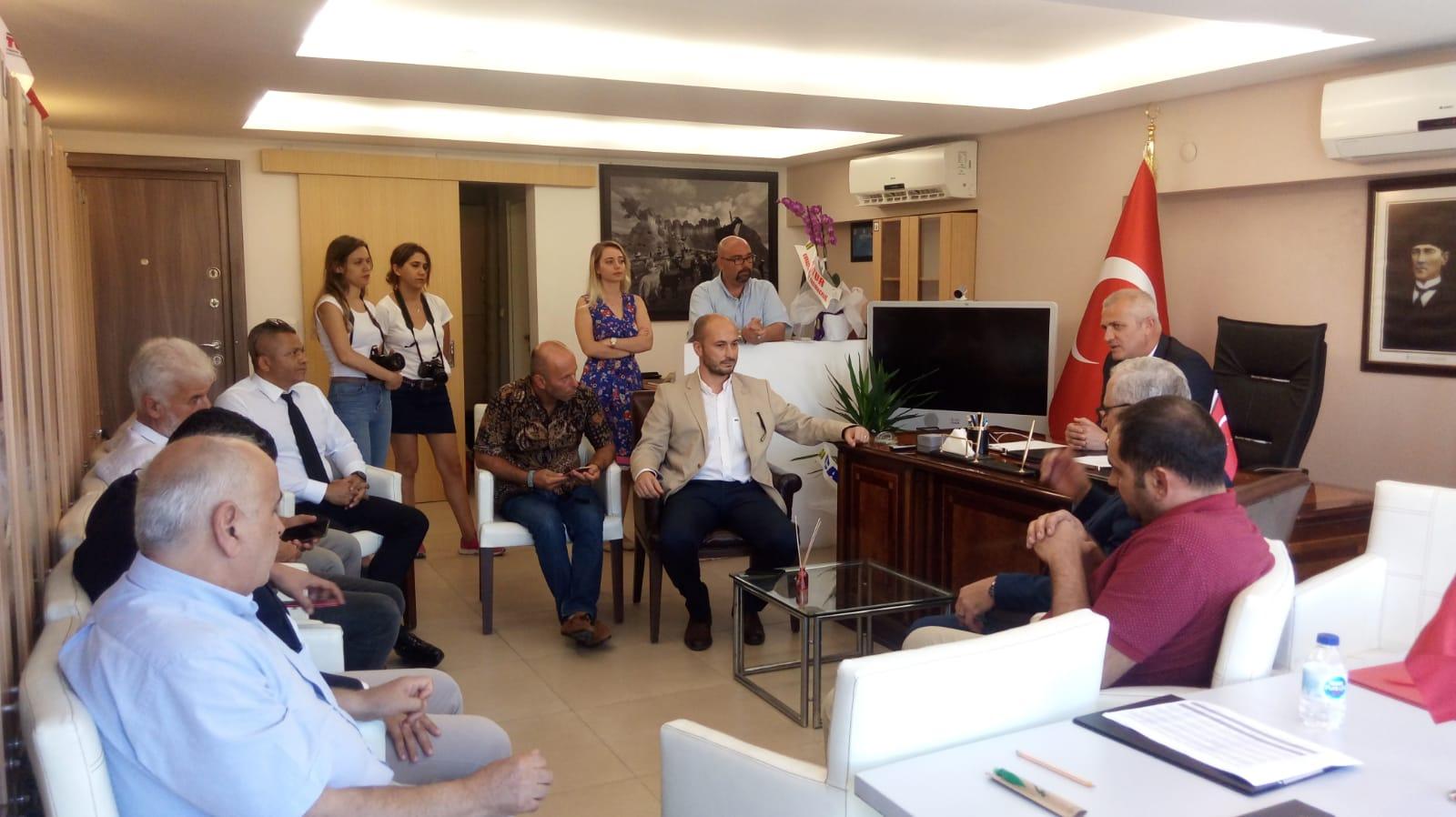 ÇATOD'dan TÜRSAB Çanakkale Körfez Yöresel Temsil Kurulu Yeni Yönetimini Ziyaret