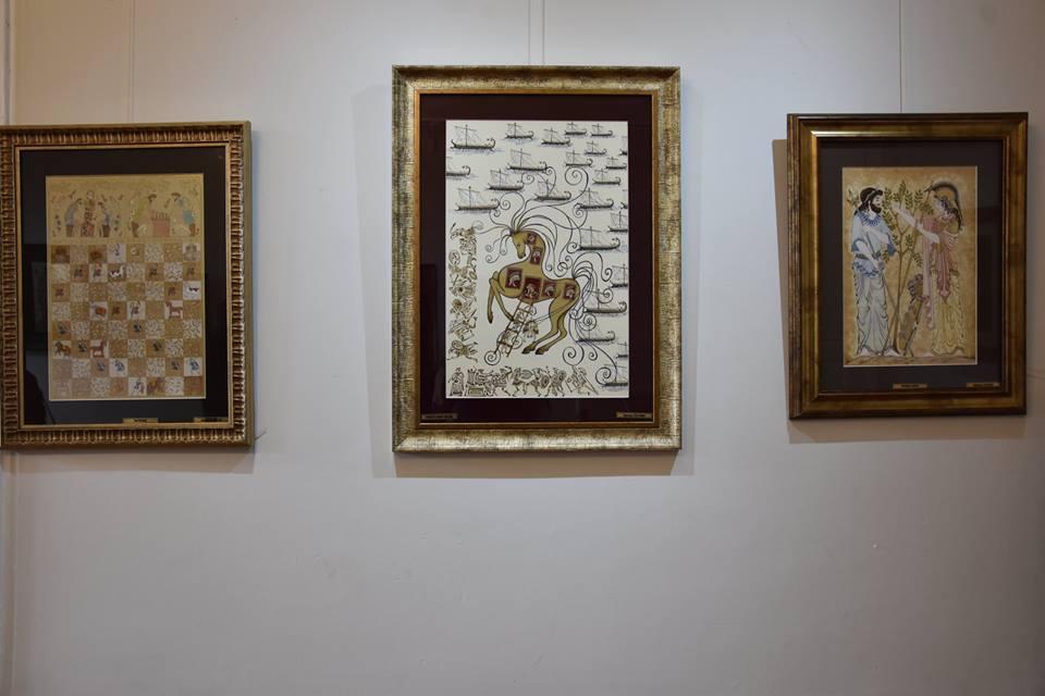 Sanatla Troya: Troya ve Çanakkale Minyatürleri Sergisi Açıldı
