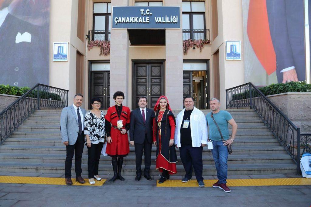 Uluslararası Troya Halk Dansları Festivali Konukları Valilikte Ağırlandı
