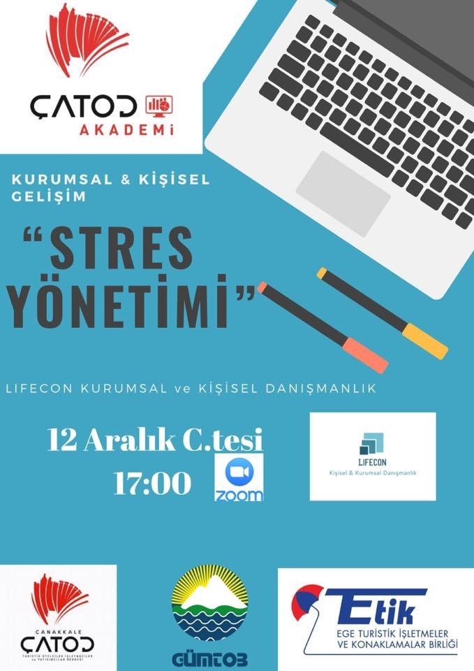 """ÇATOD Akademi & LIFECON İş birliğinde """"Stres Yönetimi"""" Eğitimi Yapıldı"""