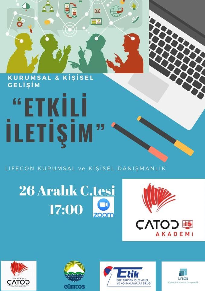 """ÇATOD Akademi & LIFECON İş birliğinde """"Etkili İletişim"""" Eğitimi Yapıldı"""